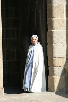 Nun at Mont St Michel