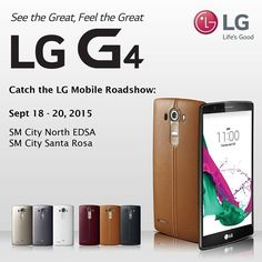 Catch the LG Mobile Roadshow at SM City North EDSA & SM City Santa Rosa from September 18-20