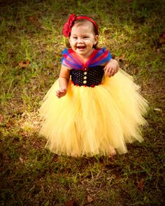 Snow White Tutu Dress Halloween Costume by www.BlissyCouture...