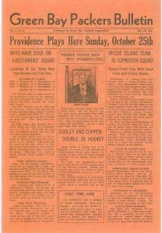 October 25th, 1931 - Providence Steam Rollers vs. Green Bay Packers at City Stadium, Green Bay Wisconsin. #packers #nfl #vintage