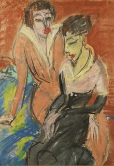 Ernst Ludwig Kirchner | 1880-1938, Germany | Two Women, 1913