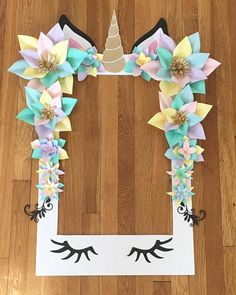"*** Unicorn Selfie Frame - Limited Edition*** This beautiful customized selfie frame is a great addition for your next special event! Perfect for any special occasion including weddings, baby showers and birthdays! The frame measures 36"" x 28"" and is made out of durable"