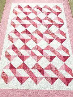 Triangle Quilt Tutorials, Half Square Triangles, Squares, Pink Quilts, Square Quilt, Machine Quilting, Breast Cancer, Fiber Art, Quilt Patterns