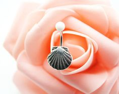 Belly button ring,Shell belly ring,Shell belly button jewelry