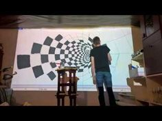 [HD] 3D Cube wall painting time lapse - YouTube