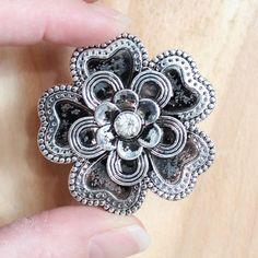 Flower Dresser Knobs with Crystals