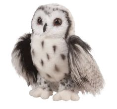 """Amazon.com: Crescent Silver Owl 9"""" by Douglas Cuddle Toys: Toys & Games"""