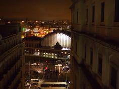 アトーチャ駅をソフィア王妃芸術センターから。Atocha station viewing from Museum of Reina Sofia