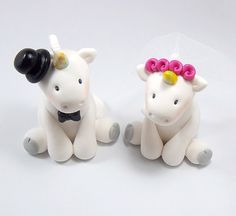 Yes?  (Unicorns Polymer Clay Figurines  by HeartshapedCreations on Etsy, $66.00)