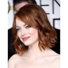 Emma Stone in Lanvin at the Golden Globes ❤ liked on Polyvore featuring hair, hairstyles, emma stone, people and pictures