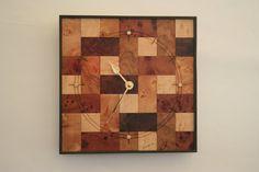 Wall Clock Wooden Wall Clock Art Deco Wall Clock by EInderDesigns