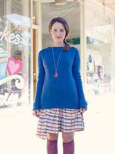 Blueberry Popover 2.0 by Anastasia Popova. Crochet jumper. 5ply 248m/100g x 7.5. Interweave Crochet Winter 2013. Saved to Evernote/iBooks.