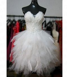 Stella free shipping gown Customize short design feather fluffy wedding dress wedding dress-in Wedding Dresses from Apparel & Accessories on Aliexpress.com