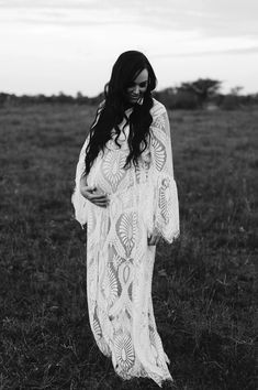 Maternity Session, Maternity Dresses, Modern Bohemian, Bohemian Style, Duster Dress, White Slip, Lace Design, Body Shapes, Wrap Dress