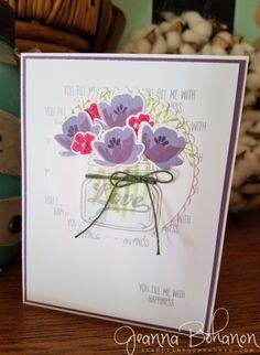 #TGIFC77 Stampin' Up! Jar of Love Anniversary card by Jeanna Bohanon