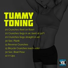Try this 10 minute, tummy burning, toning workout! Ideal Shape, Ideal Fit, Boat Pose, Reverse Crunches, Bicycle Crunches, 10 Minute Workout, Toning Workouts, Flat Abs, I Work Out
