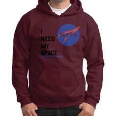 I Need My Space (Nasa) Gildan Hoodie (on man)