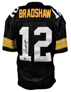 e6663a9a1c5 ... Pittsburgh Steelers 12 Terry Bradshaw Black Throwback Jersey NFL jersey  Pinterest Nfl jerseys ...