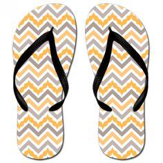 103f1ba6adafc Katydid Gold  amp  Grey Chevron Fashion Women s Flip Flop Designed by Katydid  flip flops are