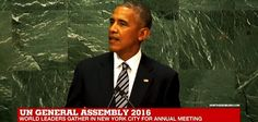 Obama At United Nations Calls For America To Be 'Bound By International Laws' Give Up Control. Pub 9/21/2016 New World Order aka One World Order aka United Nations.