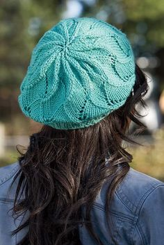 Quick Rolling Waves Beret Hat Knitting Pattern #crafts