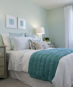 """""""Welcome spring and treat yourself! Pick up a new duvet and shams to brighten up your bedroom. This easy fix not only brings color to your room but can help motivate you to make your bed each and every day! Table Lamps For Bedroom, Bedroom Decor, Bedroom Ideas, Bedside Tables, Cozy Bedroom, Bedroom Inspiration, Bedroom Styles, Bedroom Furniture, White Bedroom"""