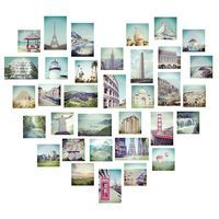 The Brewster Home Love 2 Travel Wall Art Kit adds a beautiful look to your contemporary space with an elegant collage of photographs featuring some. Girls Wall Stickers, 3d Mirror Wall Stickers, Wall Stickers Home Decor, Vinyl Wall Stickers, Vinyl Art, Wall Decals, Picture Heart Wall, Photo Wall, Travel Wall Art