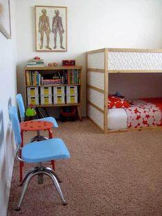 A Happy Play Space for Nessa's Boys-Kura bed Ikea-hack