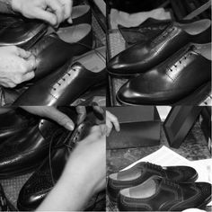 The shoes are checked for quality. Then they can be passed for lacing and boxing. #franceschetti handmade shoes Made in Italy