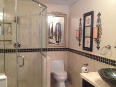 Bathroom remodel by Graham Knight.  This is a beautiful job which the homeowner was very pleased.  www.louisvilleremodeler.com