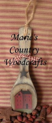 Marie's Country Woodcrafts: Prim Spoon Giveaway! Marie's Country Woodcrafts: Prim Spoon Giveaway! Arte Country, Country Crafts, Country Decor, Rustic Decor, Wooden Spoon Crafts, Wood Crafts, Wooden Spoons, Wood Burning Patterns, Wood Burning Art
