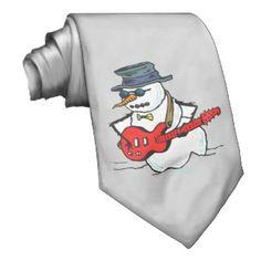 Rock N Roll Snowman Neck Wear