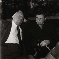Diane Arbus, 1969 - Elderly couple on park bench, N.Y.C.
