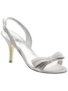 Pierre Dumas Premier-2 in silver satin #shoes #3inches #silver #bow $14.97