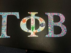Gamma Phi Beta Lilly letters sorority craft