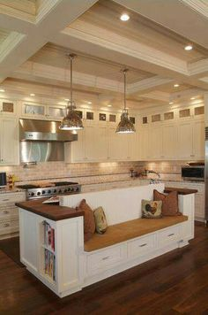 1000 images about kitchen booth ideas on pinterest for Kitchen island booth