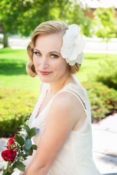 | Rose Red Bridal Designs--Silk Magnolia. Photos by La Candella Weddings: http://lacandellaweddings.com