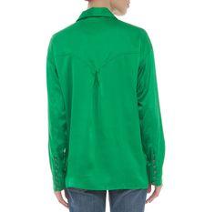 Camisa cetim verde