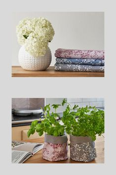 My Arla floral fabric is so versatile. I have made plant pot holders and the three colours compliment each other really well. Floral Fabric, Blue Fabric, Cushions To Make, Gypsophila, Fabric Squares, Potted Plants, Shades Of Blue, Fabric Design, Fabrics