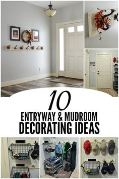 Welcome people into your home with these easy elegant farmhouse entryway decor ideas as well as mudroom organizing tips to make your space beautiful and functional. #entryway #entrywayideas #kenarry #ideasforthehome