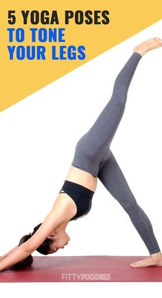 Yoga Poses For Legs And Thighs Here are 5 yoga poses to practice every day for toned, sexy legs.Here are 5 yoga poses to practice every day for toned, sexy legs. Easy Weight Loss Tips, Yoga For Weight Loss, Lean Legs, Yoga Motivation, Online Yoga, Yoga Poses For Beginners, Ashtanga Yoga, Yoga Routine, Yoga Videos