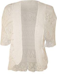 PaperMoon Women's Plus Size Crochet Knitted Short Sleeve Cardigan - White - US 14-16 (UK 18-20) PaperMoon,http://www.amazon.com/dp/B00D46ZAIE/ref=cm_sw_r_pi_dp_oVMltb17SNPMQ90B