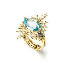 Royal Marquis Sunburst Ring in 18k Gold | Alexis Bittar