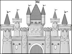 Princess castle mural