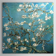 Hand-painted Almond Branches in Bloom,San Remy,c.1890 Oil Painting by Vincent Van Gogh with Stretched Frame – AUD $ 72.77