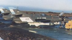 Guerra de Malvinas 1982, Super Étendard de la Armada Argentina cargados con misiles Exocet AM-39 listos para combatir.