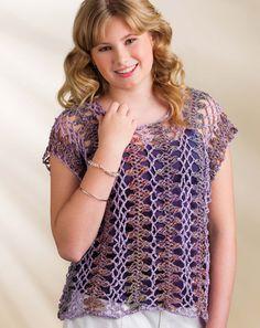 Hairpin Lace Tee | Crochet! Magazine
