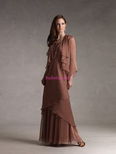 316c2303efb7 Mother Of The Bride Dresses With Jackets | Chiffon Long Sleeve Mother of  the bride Dresses