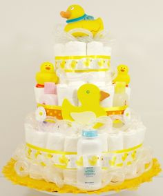 Suds and Bubbles Bath Time Ducky Diaper Cake