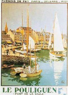 Affiche ancienne de Charles HALLO le Pouliguen